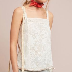 Anthropologie | Tiny Jasmine Printed Tank white